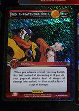 DRAGON BALL Z TCG DBZ PANINI CARD CARDDASS PRISM CARTE R119 THREATENING DRI FOIL
