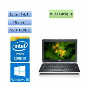 Dell Latitude E6420 - Windows 10 - i3 4Go 180Go SSD - 14.1 - Webcam - Ordinateur