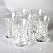 Turkish Teacup Glasses Set of 6 Made in Turkey 4.25 fl oz each Small Tea Cup Set