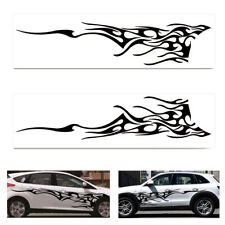220cm Black Car Auto Vinyl Graphics Two Side Stickers Body DIY Decals Sticker