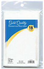 "Cross Stitch ~ Gold Quality White 18 Count Aida Fabric 60"" x 36"" #DW3081"