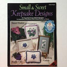Small & Sweet Keepsake Designs 21 Counted Cross Stitch Designs Plaid 7537 Flower