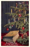 """""""Frohe Weihnachten Ein gutes Neues Jahr"""" Christmas Tree Happy New Year Postcard"""