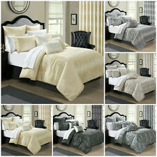 New Luxury Quilted Bedspread & Pillow Shams Extra Soft Bed Comforter Set Double