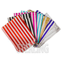 "7""x9"" CANDY STRIPE PAPER BAGS SWEET  BUFFET GIFT SHOP PARTY SWEETS CAKE WEDDING"