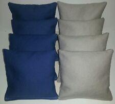 SET OF 8 GREY & ROYAL BLUE YANKEES CORNHOLE BAGS ACA REGULATION FREE SHIPPING!!!