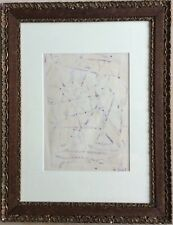 Abbé Maurice MOREL 1908-1991 Composition abstraite lyrique 32x24 SBD Crayon gras