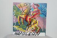 Original Outsider Art Portrait Oil Painting Napoleon On Horse Signed SK 72106