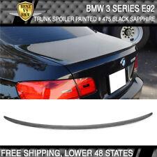 07-13 BMW 3 Series E92 M3 Sty #475 Black Sapphire Metallic Painted Trunk Spoiler