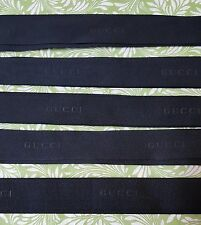 """Gucci Black/Black 1.25""""  Ribbon - $15 for two yards....Free Shipping"""