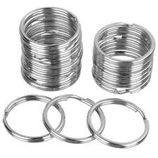 10X Split Key Rings Blanks Iron Hoop Edged Alloy Loop Ring Link Keychain 25MM