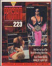 WWF Program Vol.223 Bret Hart, Razor Ramon VG 050416DBE