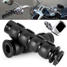 "Black 1"" Pair Hand Grips + Throttle Boss Fit Suzuki Boulevard M109R M50 M90 M95"