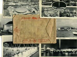 Set of 6 Postcards + Envelope, Festival of Britain 1951, South Bank Exhibition