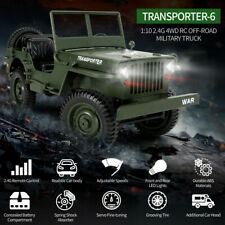 JEEP JJRC Q65 Transporter-6 2.4G 1/10 Rc Car Military Truck 4WD Off-Road Vehicle