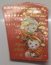 6pcs-set Red Envelopes, Bao Lì Xì - Chúc Nhi�u Sức Kh�e Ni�m Vui