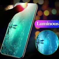 For iPhone XR Case XS MAX X 8 Luminous Shockproof Hard Back Tempered Glass Cover