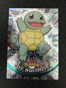 Pokemon Topps Chrome Holo #07 Squirtle Mint/NM