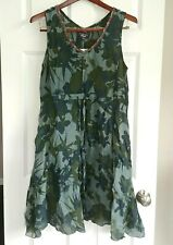 new JOHNNY WAS workshop leaf print linen handkerchief hem tunic dress 3x