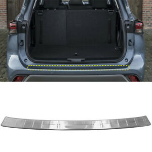 For Toyota Kluger 2021 Silver Rear Outer Bumper Protector Cover Trim 1PC