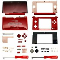 Housing Shell for Nintendo 3DS System Replacement Screen Tools Console Flame Red