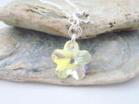 Flower Charm Anklet, 925 Sterling Silver Ankle Bracelet, Made with Swarovski