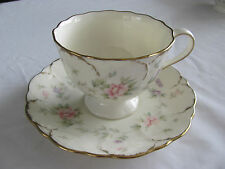 Mikasa Ivory Bone China Remembrance Floral Brushed Gold - Cup & Saucer - 5 Avail