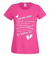 T-Shirt mit Druck -  Erzieherin - Kindergarten - Kinderpflegerin - Erzieher