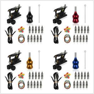 Professional Tattoo Kit Rotary Tattoo Machine Shader & Liner Gun with Needles