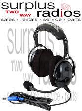 New Rugged Radios H22 Ultimate Carbon Fiber Headset Vol Control Intercom Racing