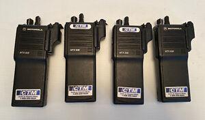 lot of 4 Motorola MTX838 Handie-Talkie FM Radios H01RDH9DB7AN
