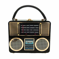 Radio Acrylic Box Clutch Women Shoulder Totes Bag Crossbody Handbag Evening Bag