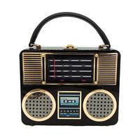 Radio Acrylic Box Clutch Women Shoulder Totes Bag Crossbody Handbag Evening Bag