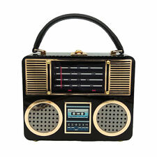 Hard Case Radio Box Clutch Women Totes Bag Shoulder Crossbody Handbag Purse