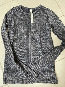 Lululemon Rest Less Pullover Longsleeve Shirt - Navy, Size 8, NEW!