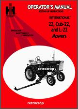 IH Farmall International 22 Cub & L-22 Super A , 140 Sickle Mower Owner's Manual