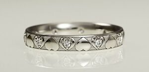 Ladies wedding band ring 9ct white gold 3 mm laser engraved  Hatton garden made