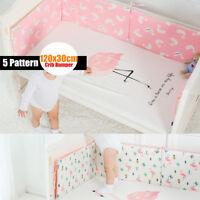25mm Infant Newborn Baby Crib Bumper Comfy Cushion Pad Nursery Bedding Protector