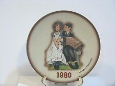 Norman Rockwell 1980 Annual Plate 'Lovers' 2nd Limited Edidtion