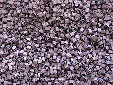 50g #11 Square Pink/Purple Millefiori Transparent Small 4-5mm. Italian Glass