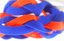 NEW! Royal Blue Orange Grippy Bands Headband Hair Sport Soccer Softball Stretch