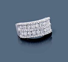 Ring Diamant Brillant Prinzess 14 Karat 585er Weißgold 2,07 Karat Top Wesselton