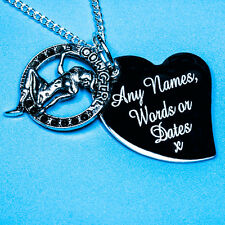 Personalised Round Sexy Cow Girl Name Charm Pendant Necklace Birthday Gift