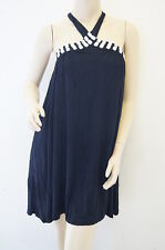 Ladies Stunning Embellished Evening Halterneck Top Dress Size 8 (AT8)