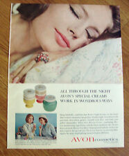 1964 Avon Cosmetics Ad All Through the Night Special Creams Work in Wondrous Way