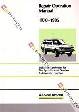 FACTORY WORKSHOP SERVICE REPAIR MANUAL BOOK LAND RANGE ROVER V8 3500 1970-1985
