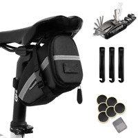 Hommie Bike Repair Tool Kit Portable 16-in-1 Bicycle Saddle Bag with Repair Set
