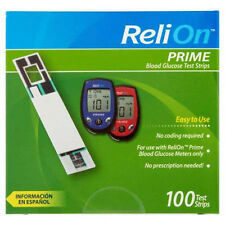 ReliOn Prime Blood Glucose Test Strips 100 count Free Shipping!!!!