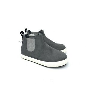 Cat & Jack Anton Gray Mid Top Toddler Shoes Sz 5 Gray Sneakers Faux Suede