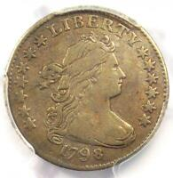 1798 Draped Bust Dime 10C Small 8 - Certified PCGS VF Details - Rare Date Coin!